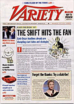 Variety Magazine  (US) - 52 iss/yr (To US Only)