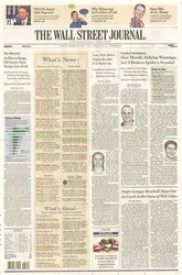 Wall St. Journal - Incl Delivery  (US) - 260 iss/yr (To US Only)