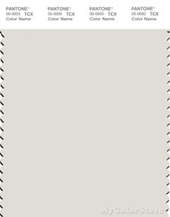 PANTONE SMART 12-4302X Color Swatch Card, Vaporous Gray