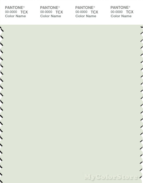 PANTONE SMART 12-5404X Color Swatch Card, Whisper Green