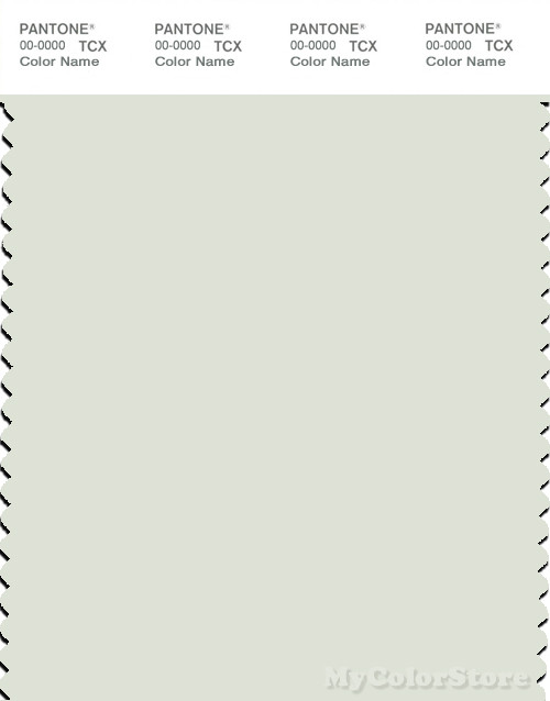 PANTONE SMART 12-6207X Color Swatch Card, Frost