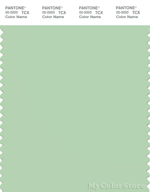 PANTONE SMART 13-0116X Color Swatch Card, Pastel Green