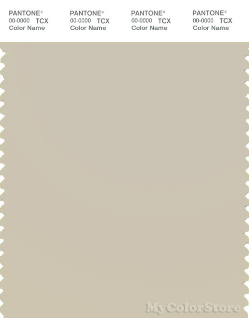 PANTONE SMART 13-0401X Color Swatch Card, Oatmeal