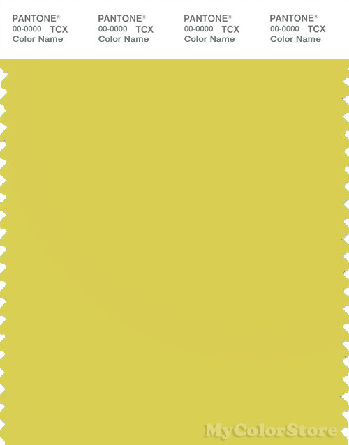 PANTONE SMART 13-0648X Color Swatch Card, Sulphur Yellow