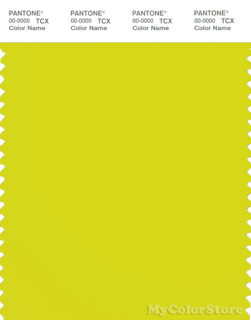 PANTONE SMART 13-0650X Color Swatch Card, Sulphur Spring