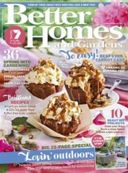 Better Homes & Gardens Magazine Subscription (Australia ) - 12 issues/yr. Via Air