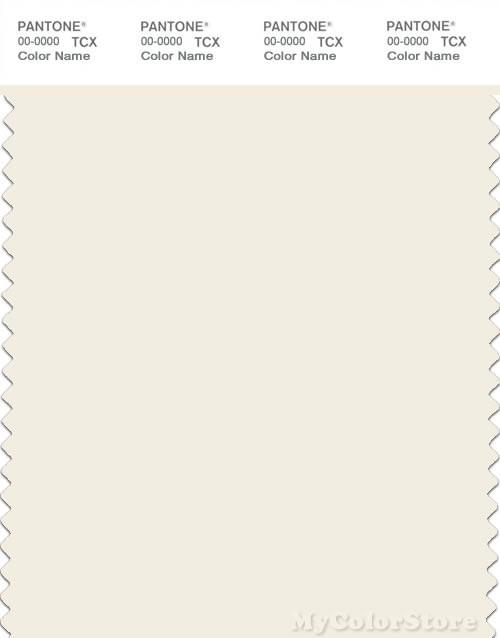 PANTONE SMART 11-0103X Color Swatch Card, Egret