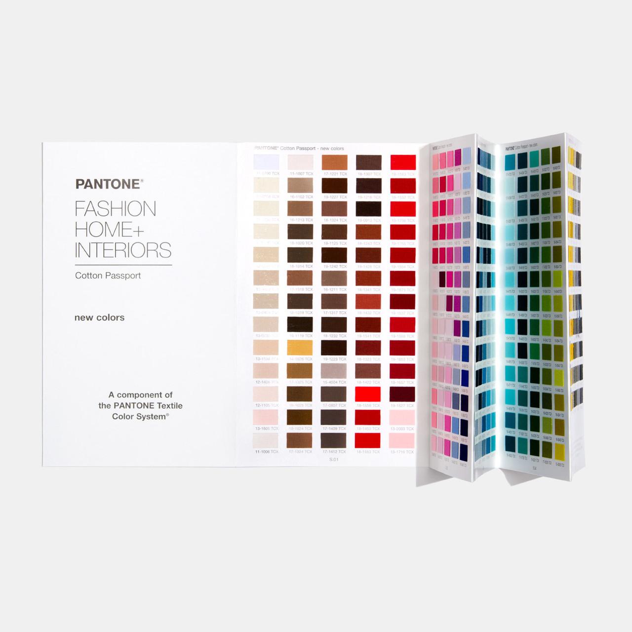 Pantone Fashion Home Interiors Cotton Passport Supplement Fhic210a Opr