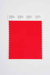 Pantone Smart 18-1559 TCX Color Swatch Card, Red Alert