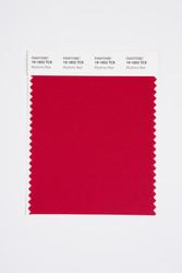 Pantone Smart 19-1653 TCX Color Swatch Card, Rhythmic Red