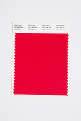 Pantone Smart 19-1756 TCX Color Swatch Card, Urban Red