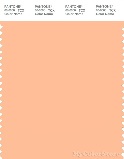 PANTONE SMART 13-1023X Color Swatch Card, Peach Fuzz