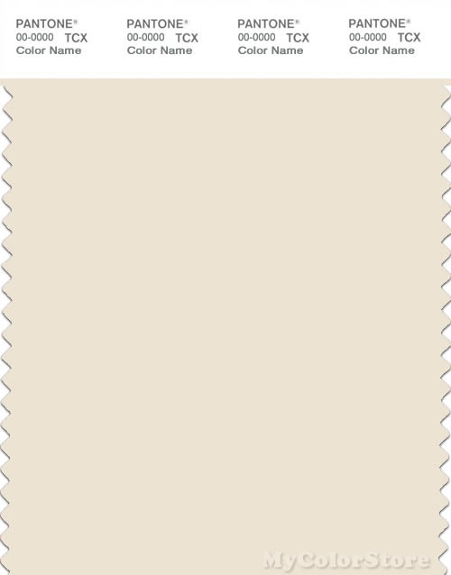 PANTONE SMART 11-0105X Color Swatch Card, Antique White