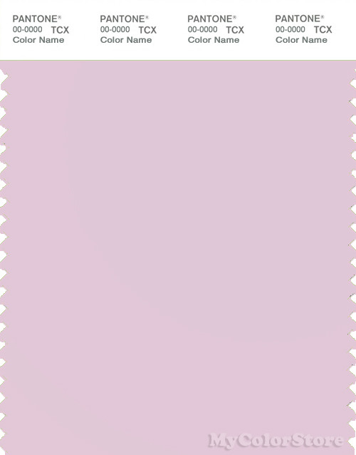 PANTONE SMART 13-3405X Color Swatch Card, Lilac Snow