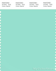 PANTONE SMART 13-5412X Color Swatch Card, Blue Green