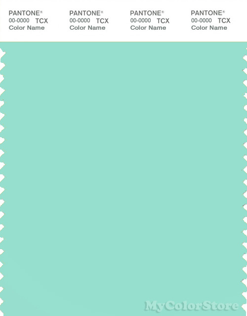 PANTONE SMART 13 5412 TCX Color Swatch Card Blue Green