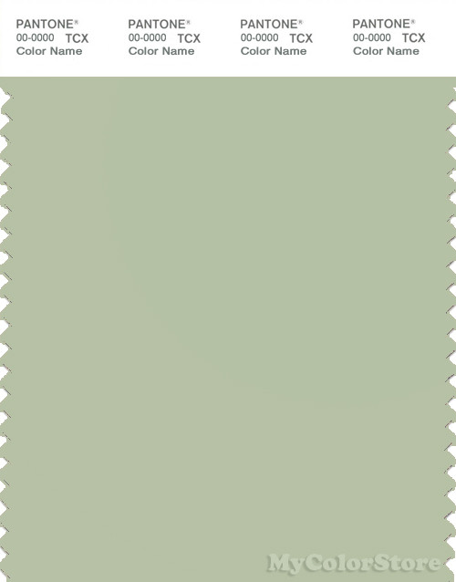 PANTONE SMART 14-0114X Color Swatch Card, Celadon Green