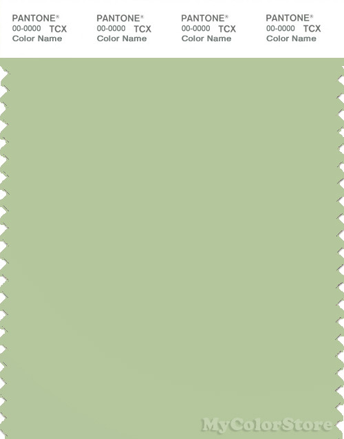 PANTONE SMART 14-0115X Color Swatch Card, Foam Green