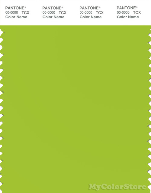 PANTONE SMART 14-0452X Color Swatch Card, Lime Green