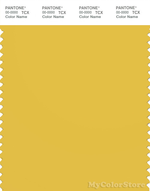 PANTONE SMART 14-0754X Color Swatch Card, Super Lemon