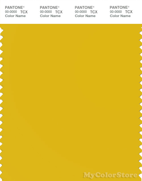 PANTONE SMART 14-0755X Color Swatch Card, Sulphur