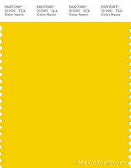 PANTONE SMART 14-0756X Color Swatch Card, Empire Yellow