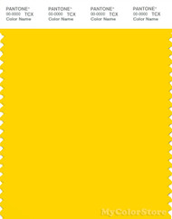PANTONE SMART 14-0760X Color Swatch Card, Cyber Yellow