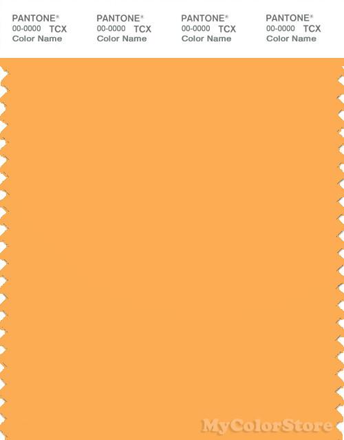 PANTONE SMART 14-1050X Color Swatch Card, Marigold