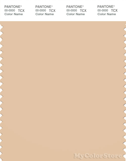 PANTONE SMART 14-1120X Color Swatch Card, Apricot Illusion