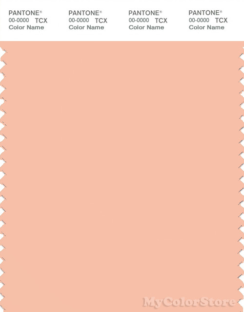 PANTONE SMART 14-1219X Color Swatch Card, Peach Parfait