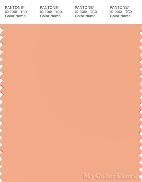 PANTONE SMART 14-1227X Color Swatch Card, Peach