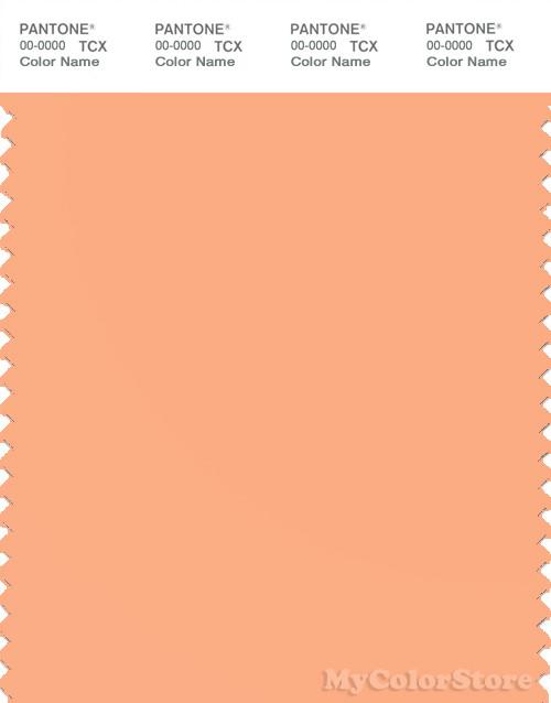 PANTONE SMART 14-1230X Color Swatch Card, Apricot Wash