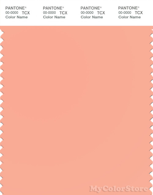 PANTONE SMART 14-1323X Color Swatch Card, Salmon