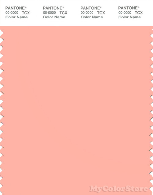 PANTONE SMART 14-1419X Color Swatch Card, Peach Pearl