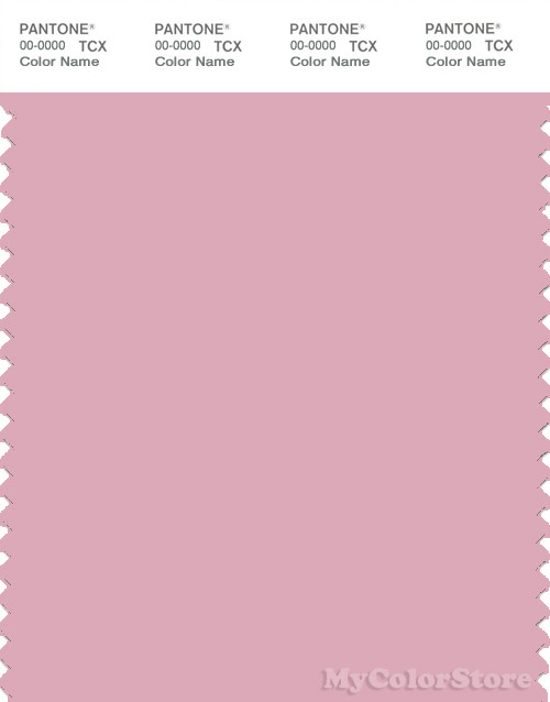PANTONE SMART 14-2307X Color Swatch Card, Cameo Pink