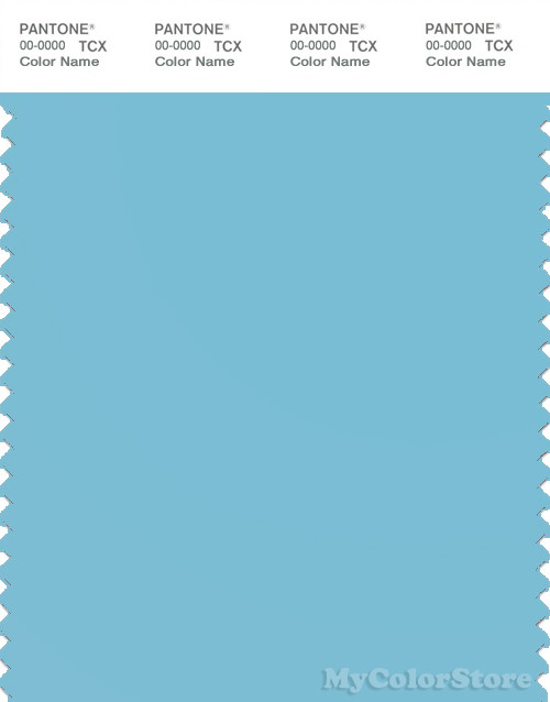 PANTONE SMART 14-4310X Color Swatch Card, Blue Topaz