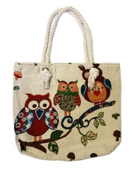 Owl Design Canvas Bag (HB52)
