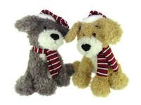 Large Festive Scruffy Soft Toy Dogs