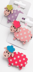 Spotty Sheep Hair Clip