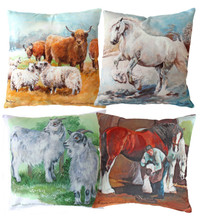 Hillside Animal Cushion Covers