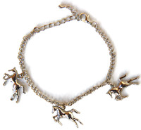 Horse Charm Bracelet with matcing Necklace