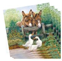 Donkey and Duck Napkins