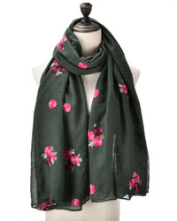 Dark grey with rose design