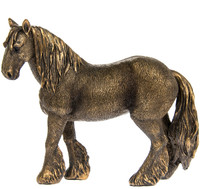Bronzed Shire Horse Ornament