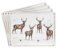 Winter Stag Placemat Set