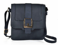 Buckle Detail Flap Cross Body Bag