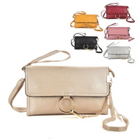 Wristlet Clutch Bag With Ring Detail Chain (HB26)
