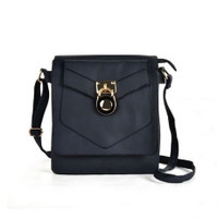 Shoulder Bag with Lock Detail