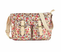 Floral Crossbody Bag with Buckle Detail