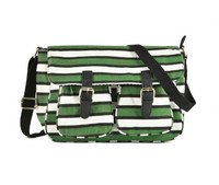 Striped Crossbody Bag with Buckle Detail (HB13)